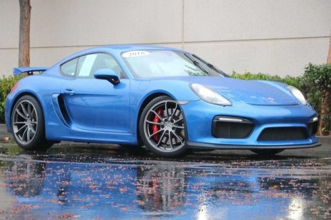 Pre-Owned 2016 Porsche Cayman GT4 with Sport Chrono, Navigation, Sport Seats